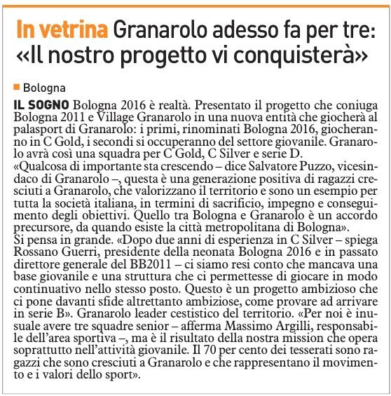 Granarolo adesso fa per tre: