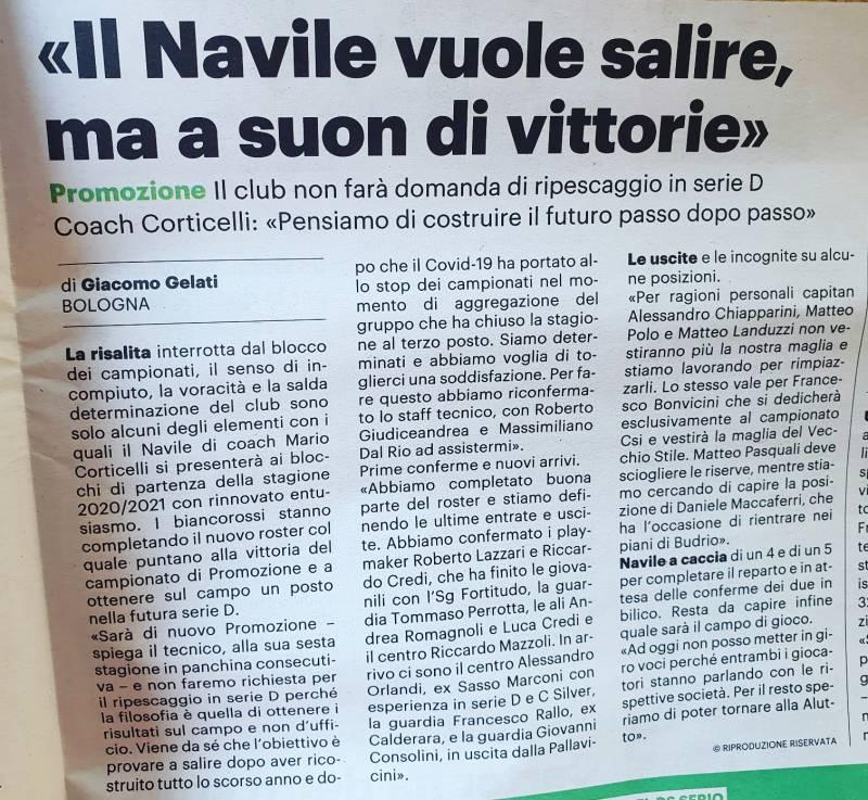Il Navile è pronto per la stagione 2020/2021