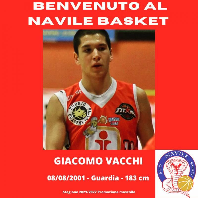 Giacomo Vacchi, un grande prospetto per il Navile Basket
