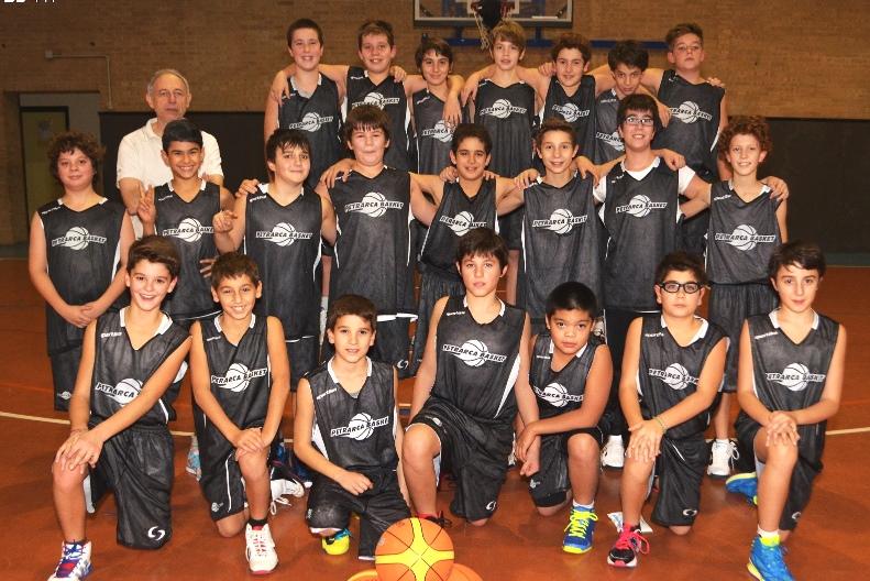 Foto squadra Petrarca Basket 2014