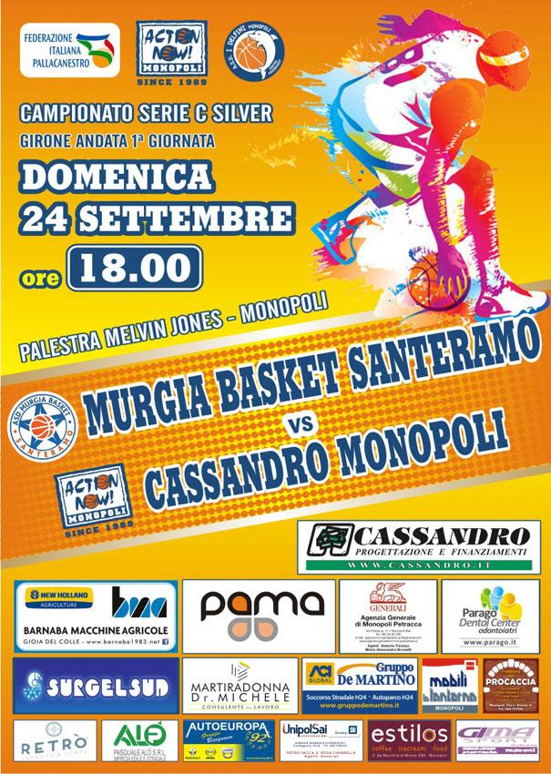 La Cassandro Action Now ospita la matricola Murgia Santeramo all'esordio stagionale