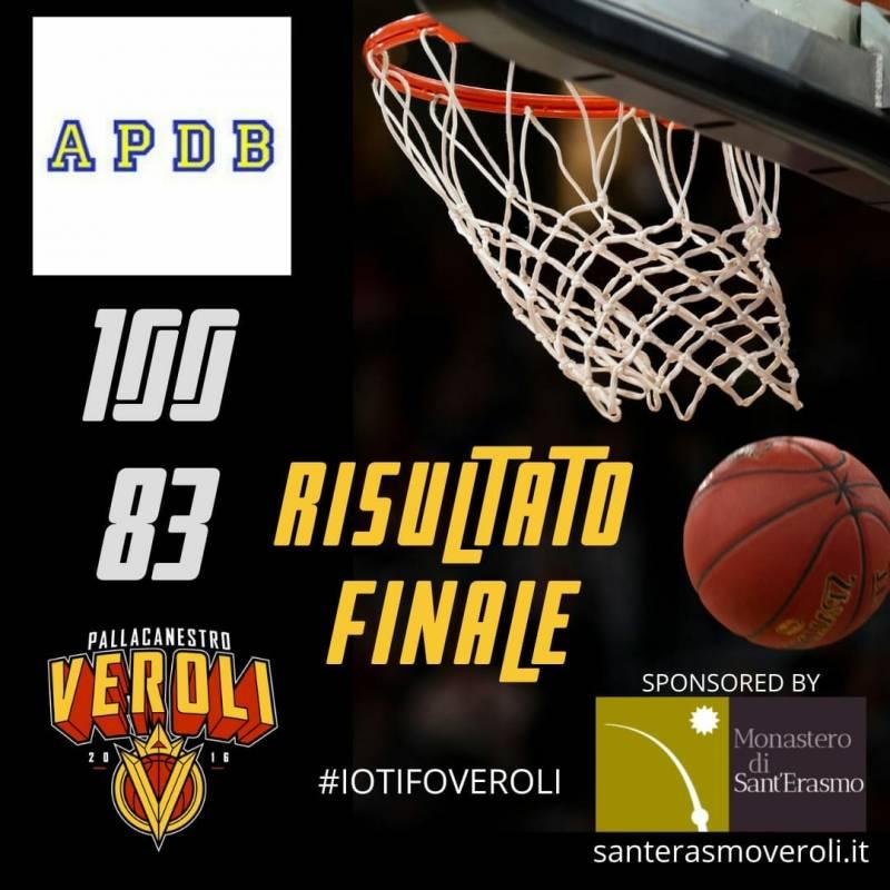 Nella terza gara in pochi giorni, arriva una sconfitta per il Veroli sul campo dell'A.P.D.B. Roma