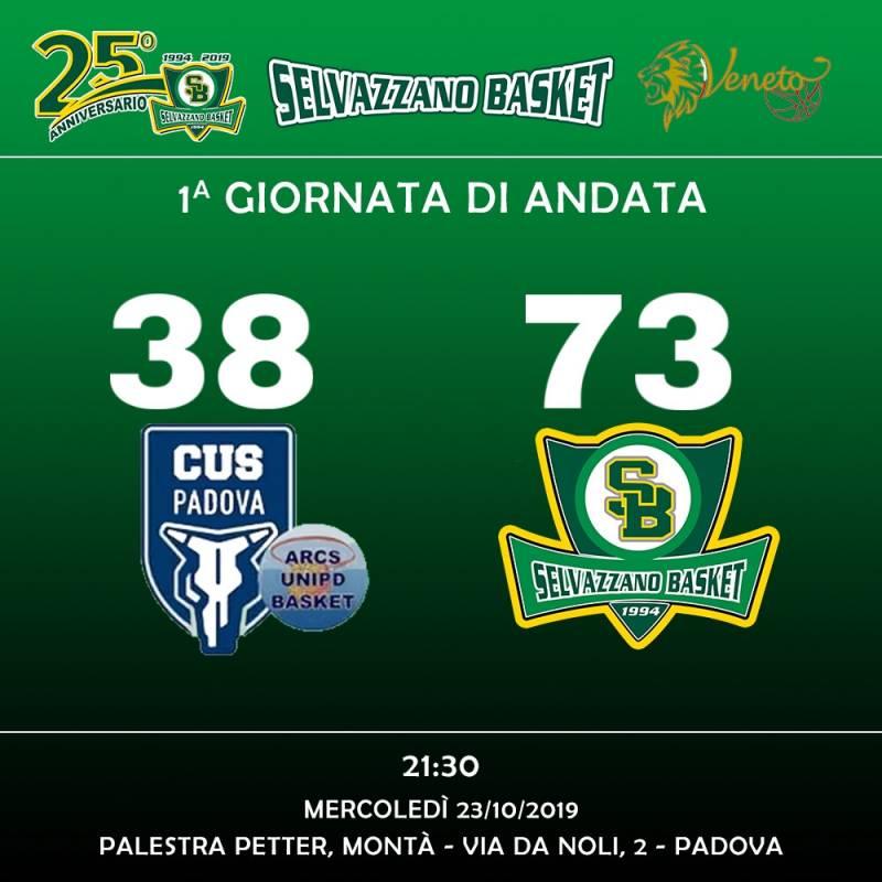 Arca Basket UNIPD vs Selvazzano Basket