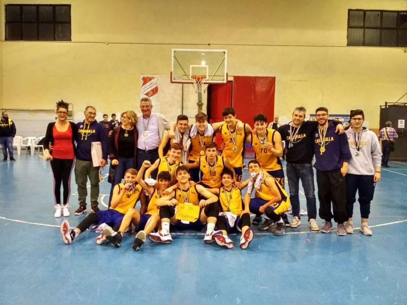 Basket Casapulla, è delirio gialloblu: U16 Gold campione regionale!