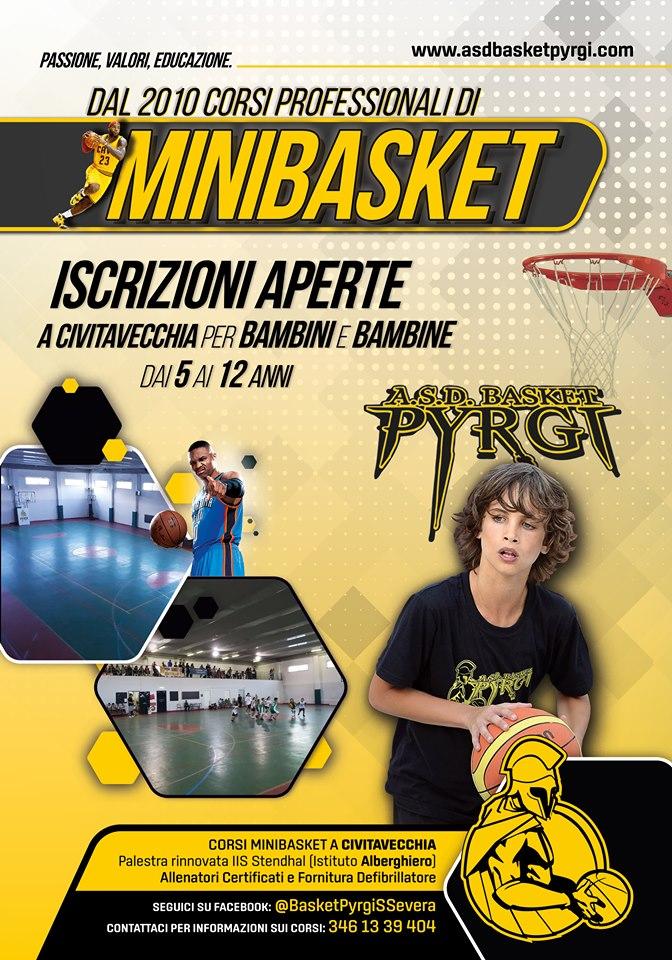 Minibasket al via, tante le novità tra Civitavecchia e S. Marinella