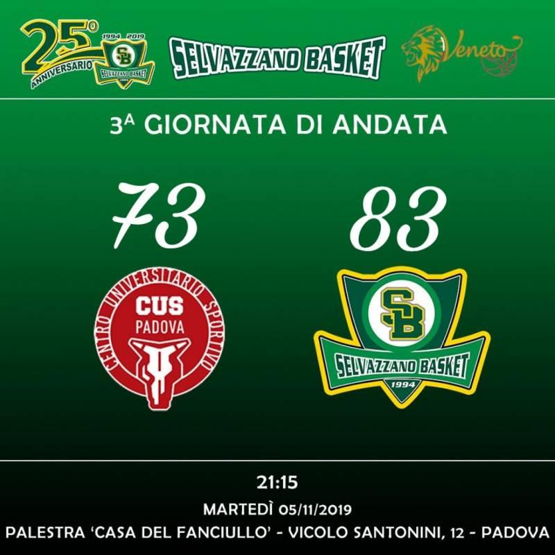 CUS Padova VS Selvazzano Basket