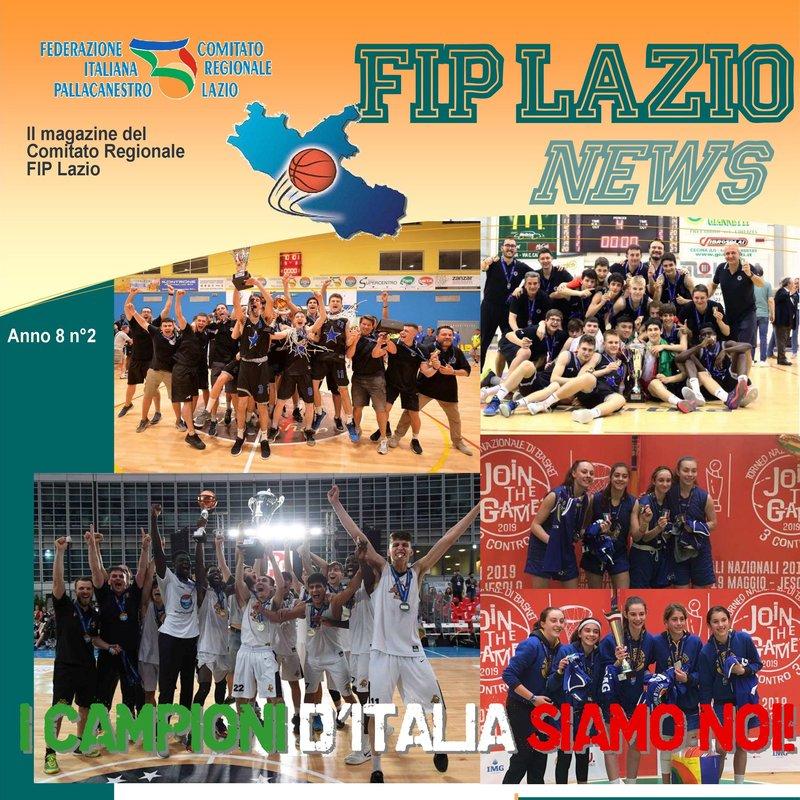Il magazine di gennaio-febbraio 2019del Comitato Regionale Fip Lazio