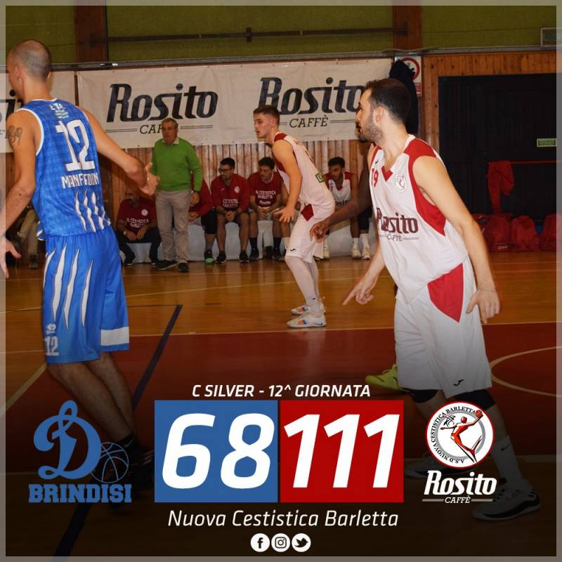 Rosito Barletta, la Dinamo Brindisi va ko: 68-111 il finale