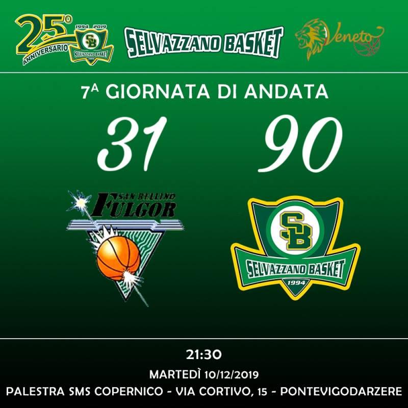 Fulgor San bellino vs Selvazzano Basket