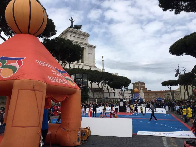Basket in festa ai fori imperiali e finali regionali 3X3. Protagonista la pallacanestro giovanile