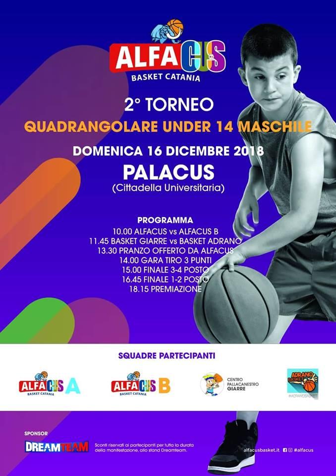 Domenica 16 dicembre il torneo Under 14