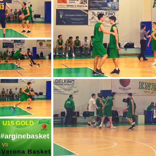 Verona Basket togli l'imbattibilità agli U15 GOLD!