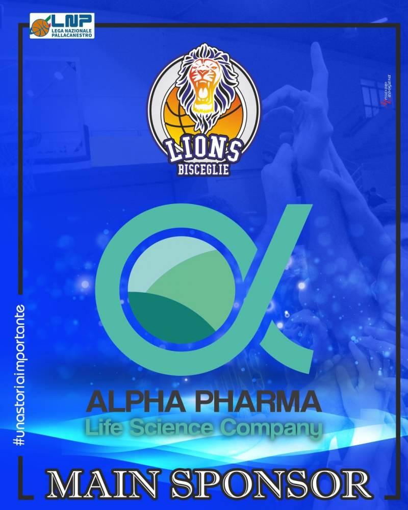 Alpha Pharma nuovo Main Sponsor dei Lions Basket Bisceglie