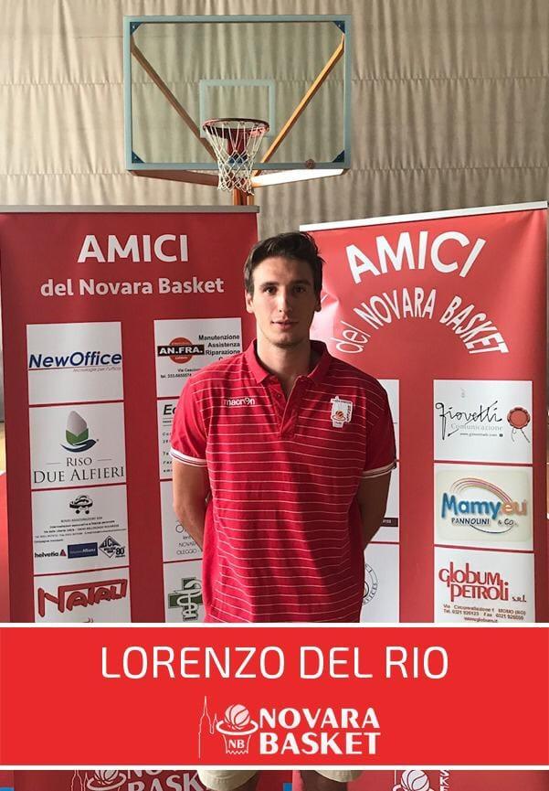 Novara Basket è lieta di annunciare Lorenzo Del Rio