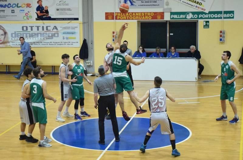 Pallacanestro Portogruaro batte Ideal Service Tarcento 74 a 69