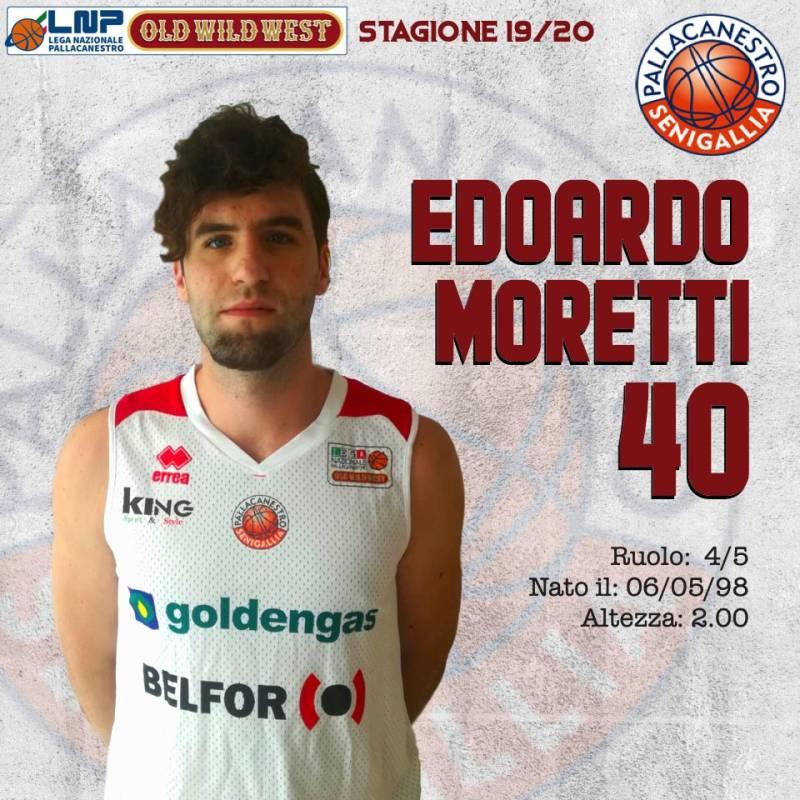 Edoardo Moretti completa il roster della Goldengas Senigallia