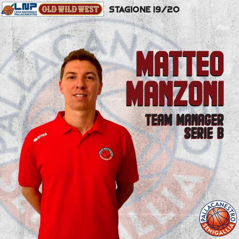 Matteo Manzoni nuovo Team Maneger della Pallacanestro Senigallia