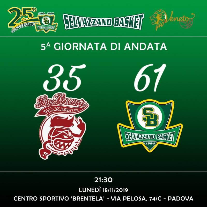 San Precario vs Selvazzano Basket