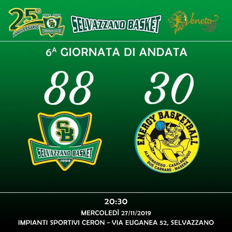 Selvazzano Basket Vs Energy Basketball