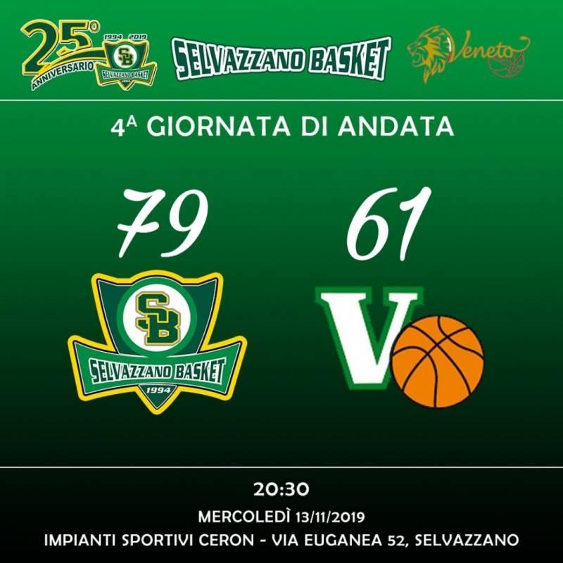 Selvazzano Basket vs Virtus Duomo