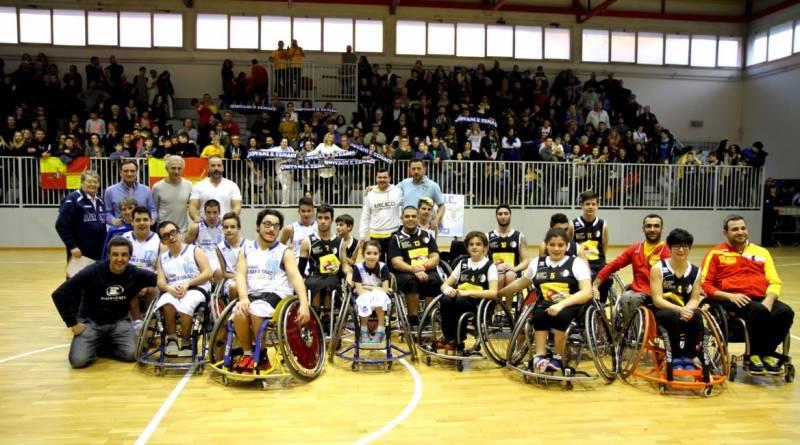 A Latina una domenica magica con il basket in carrozzina