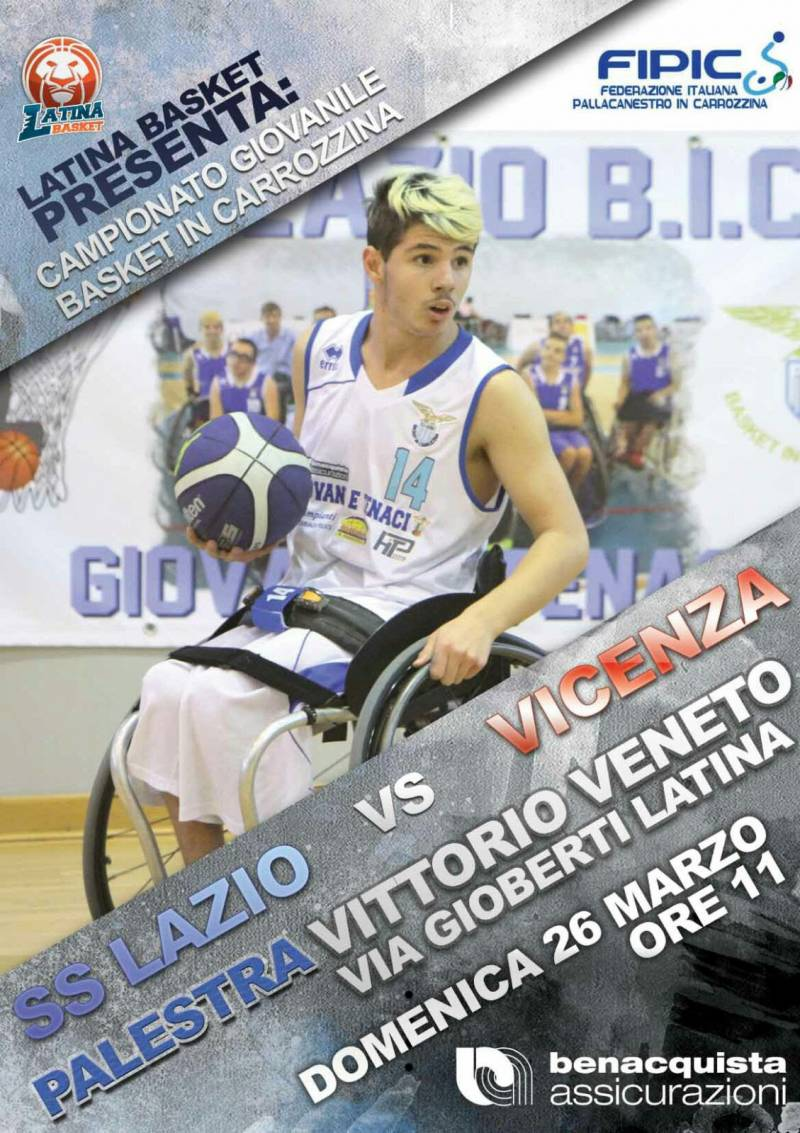 A Latina torna la magia del basket in carrozzina