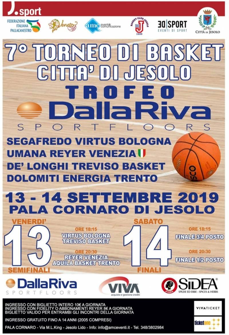 """Reyer e TVB al 7° Torneo di Basket """"Città di Jesolo"""" con Clinic PAO"""