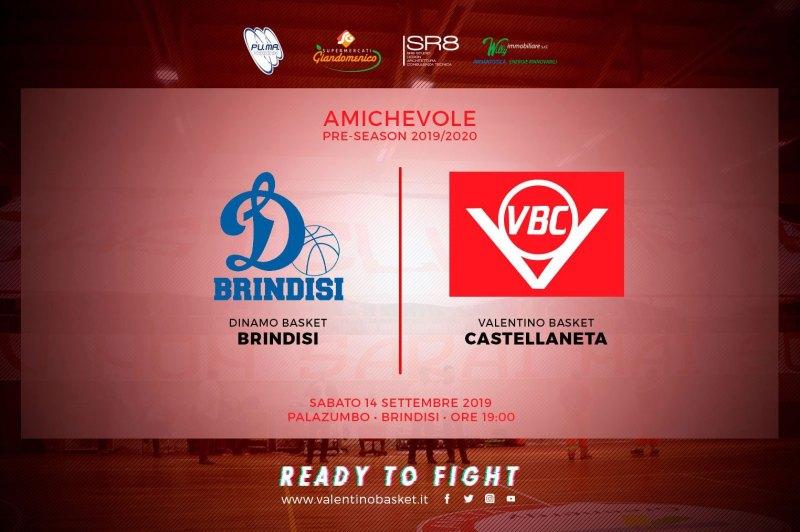 Valentino Basket Castellaneta ospite della Dinamo Brindisi per il secondo test stagionale
