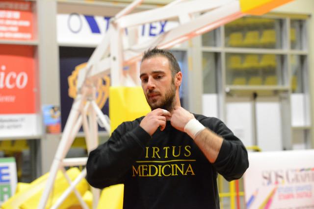La Virtus Medicina riparte dal Capitano: Luca Marinelli in giallo nero anche nel 2017/18