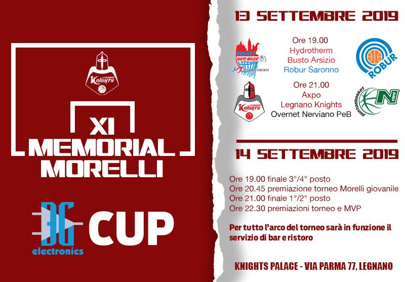 Dopo tre anni al Palaborsani, torna al Knights Palace di Legnano il classico torneo Morelli