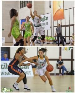 Marta Verona e Rosa Cupido all'Alma Patti Basket