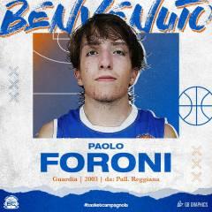 Radio Bruno Basket Campagnola è lieta di dare il benvenuto all'atleta Paolo Foroni nel roster