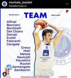 Montale Basket: dopo le conferme ecco il roster completo