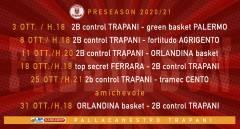 Le date del precampionato della 2B Control Trapani
