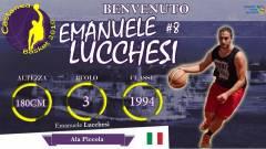Il Castanea Basket ufficializza l'arrivo di Emanuele Lucchesi