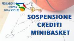 Sospensione obbligo Crediti Minibasket