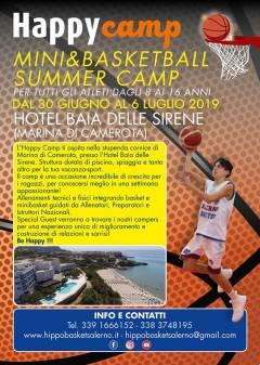 Happy Camp - Mini & Basketball Summer Camp, ecco la novità dell'estate 2019