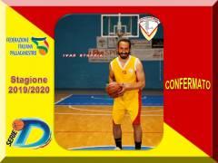 La Nuova Pallacanestro Messina pensa in grande, confermato il forte play Ivan Stuppia.