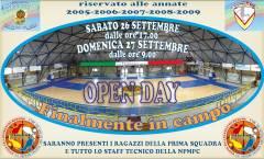 """La NPM Cocuzza organizza sabato 26 e domenica 27 settembre l'""""Open Day"""" per i nati dal 2005 al 2009"""