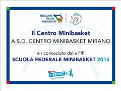 Inizio attività 2015-2016 del Centro Minibasket Mirano