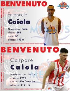 È tempo di piacevoli ritorni in casa Melfa's Gela Basket: ecco i fratelli Caiola