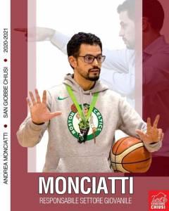 Andrea Monciatti è il nuovo responsabile del Settore Giovanile della San Giobbe Basket Chiusi!