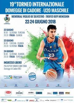 Tornano a Domegge di Cadore (BL), i giovani talenti del basket europeo