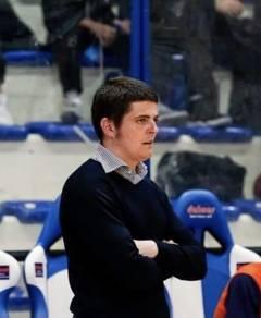 La Tiber Basket Roma in C Gold. Marco Polidori Main Coach