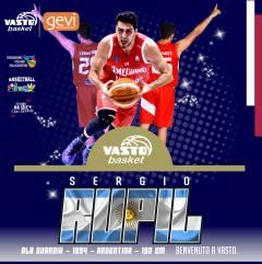 Vasto Basket mette a segno il primo colpo di mercato: arriva Sergio Rupil Del Risco