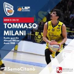 Tanta esperienza tra A2 e B, campionati vinti, talento che non si discute: Tommaso Milani