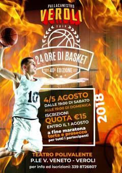 Logo 24 Ore di Basket 2018