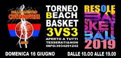 Logo 3vs3 Beach Basket ResoleClub 2019