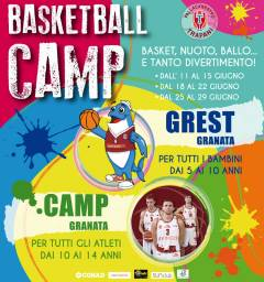 Logo Basketball Camp Granata 2018