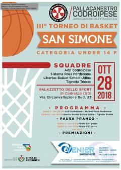Logo III° Torneo di Basket San Simone U14F